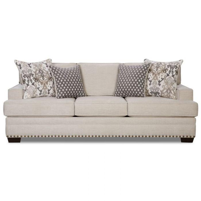 Braxton Cream Chenille Sofa (View 6 of 10)