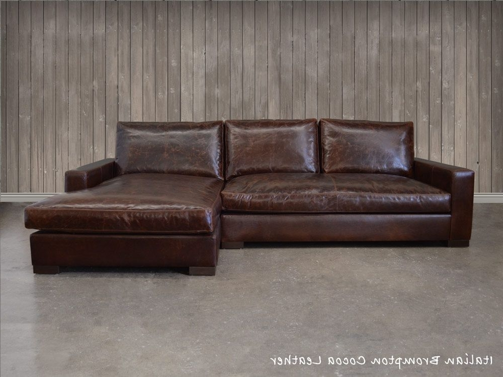 Braxton Sofas Inside Most Up To Date The Braxton Leather Sofa Chaise Sectional (shown Here In Italian (View 2 of 10)