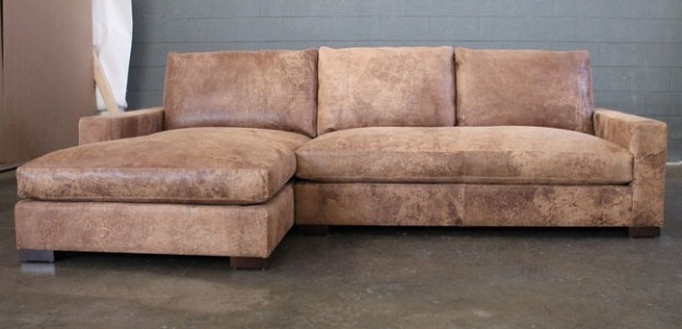 Braxton Sofas Intended For Well Known Braxton Sofa Chaise Sectional In Italian Destroyed Leather (View 8 of 10)