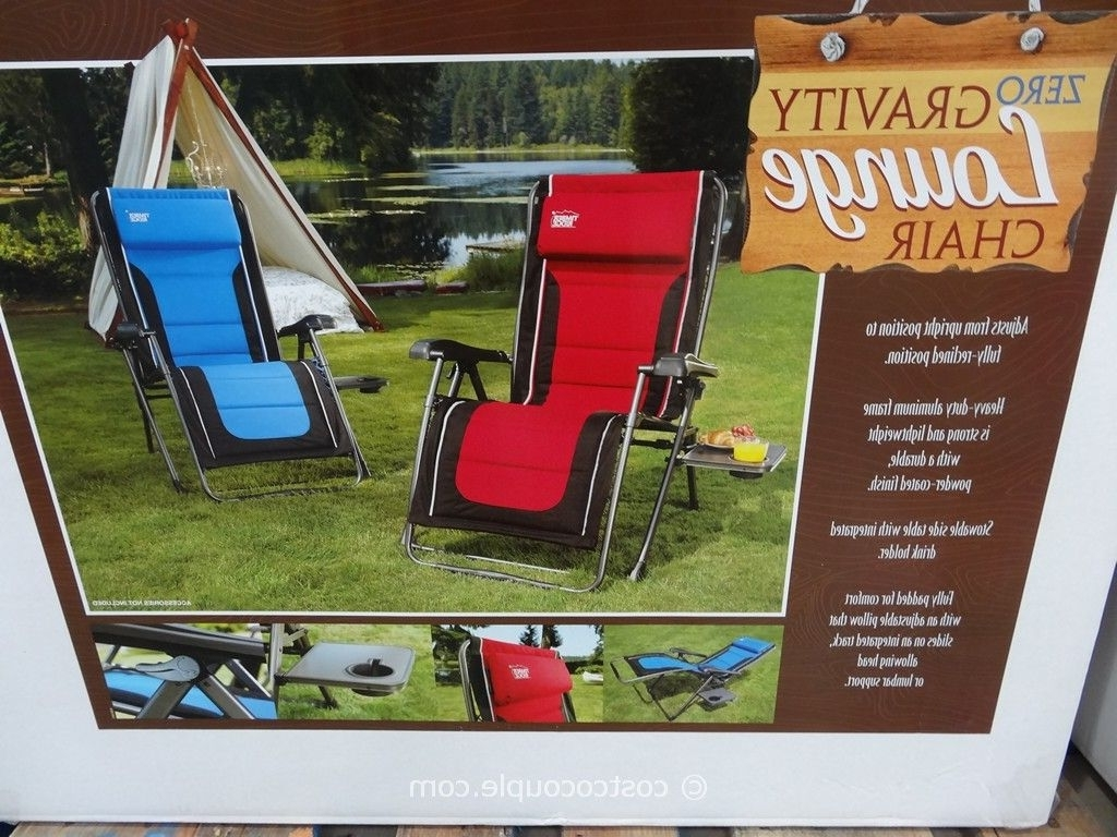 Brilliant Caravan Sports Zero Gravity Lounge Chair Outdoor Chaise Throughout Widely Used Chaise Lounge Chairs At Costco (View 2 of 15)