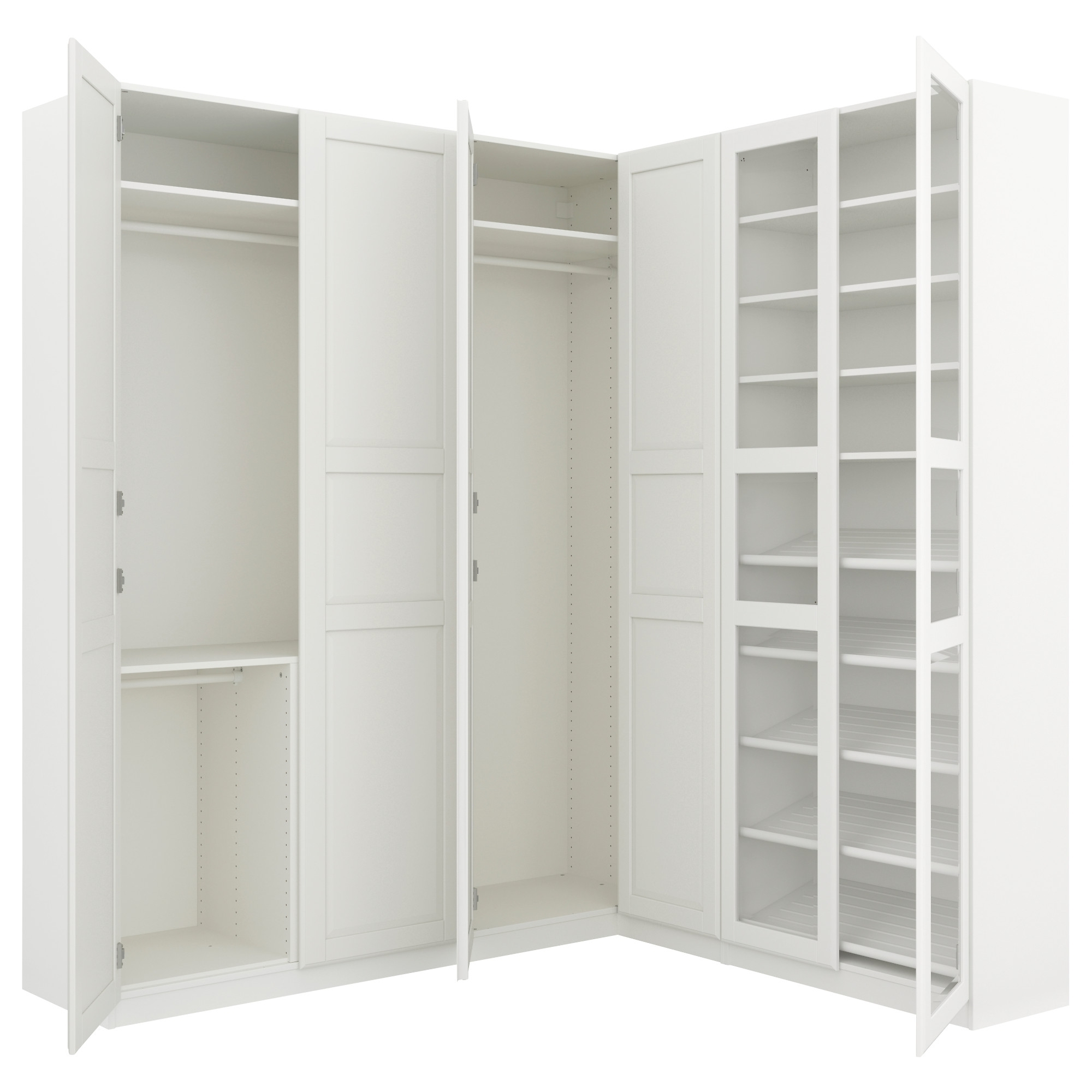Brilliant White Corner Wardrobes – Buildsimplehome Pertaining To Most Popular White Corner Wardrobes Units (View 3 of 15)