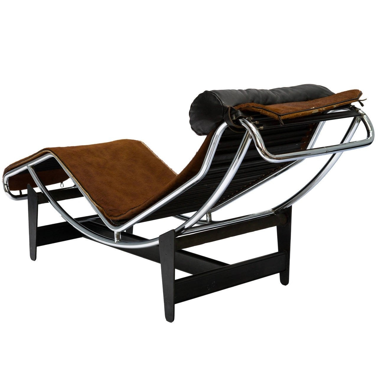 Brown Chaise Lounge Chair By Le Corbusier In Trendy Le Corbusier Lc4 Chaise Lounge Chair In Cowhide For Sale At 1stdibs (View 3 of 15)