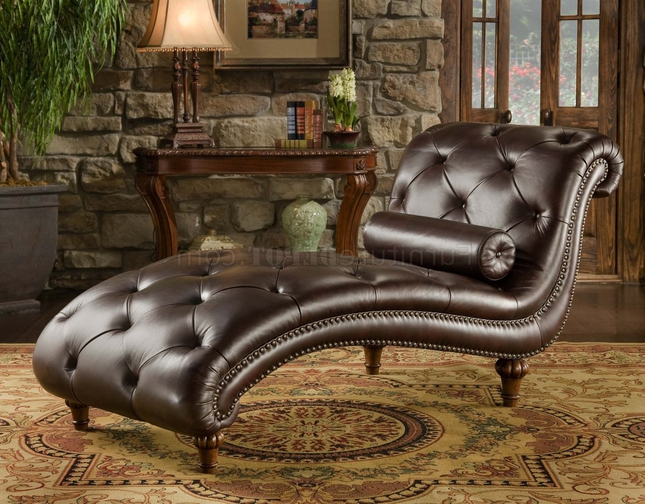 Brown Leather Chaise Lounge Within Most Up To Date Brown Leather Chaises (View 4 of 15)