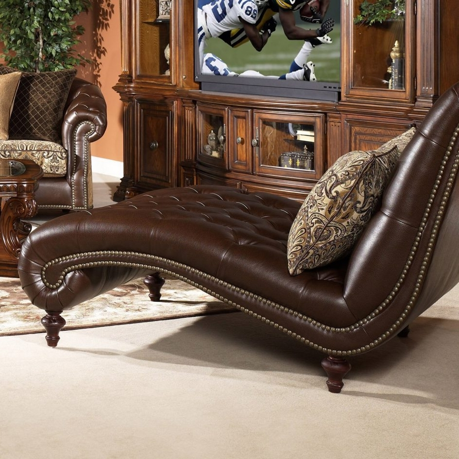 Brown Leather Chaises With Regard To Most Popular Living Room And Furniture (View 7 of 15)