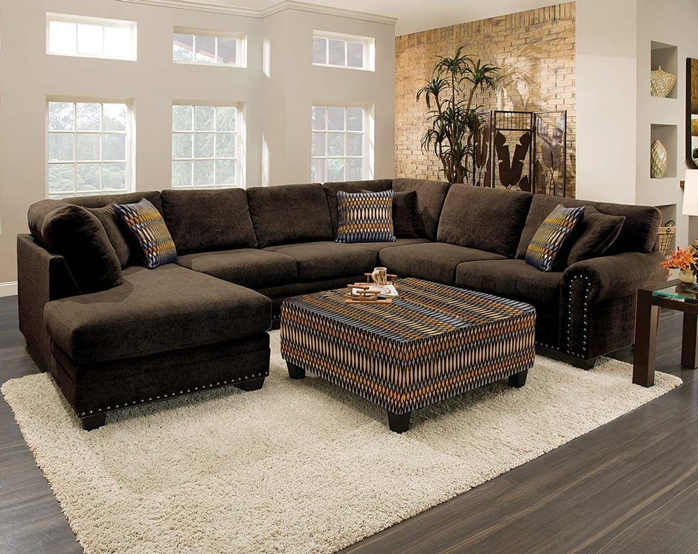 Brown Sectionals With Chaise Throughout 2018 Brown Sectionals Sofas (View 3 of 15)