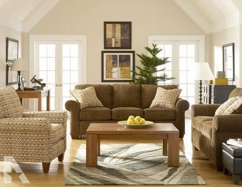 Brown Sofa & Accent Chair – For Sale In San Bruno, California With Regard To Well Known Brown Sofa Chairs (View 1 of 10)