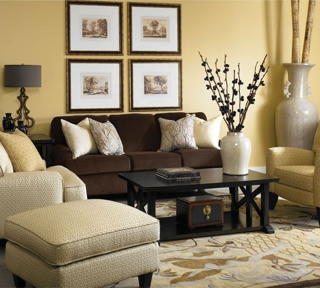 Brown Sofa Chairs Intended For Most Recent Bedroom : Brown Sofa Decor Rug Bedroom Decorating Ideas Dark (View 5 of 10)
