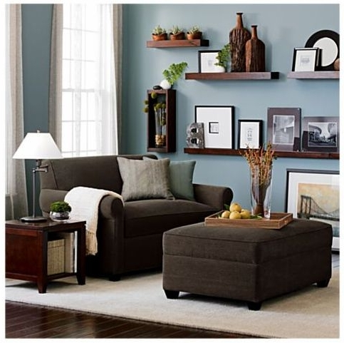 Brown Sofa Chairs Pertaining To Latest Living Room : Decorating Wall Shelves Brown Sofa Ideas Living Room (View 6 of 10)