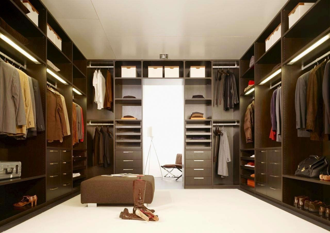 Brown Wardrobes Regarding Well Liked Excellent Brown Wood Laminated Sliding Door Wardrobe Design (View 1 of 15)