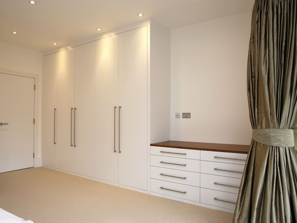 Built Fitted Wardrobe White Chest Drawers Modern Bedroom Furniture Inside Most Recent Low Cost Wardrobes (View 6 of 15)
