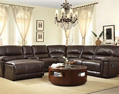 Buy Homelegance 6 Piece Faux Pu Leather With 6 Piece Leather Sectional Sofas (View 8 of 15)