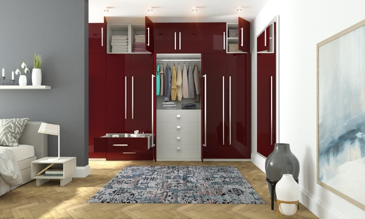 Buy Marissa 6 Door Wardrobe Online In India – Livspace In Most Popular 6 Doors Wardrobes (View 5 of 15)