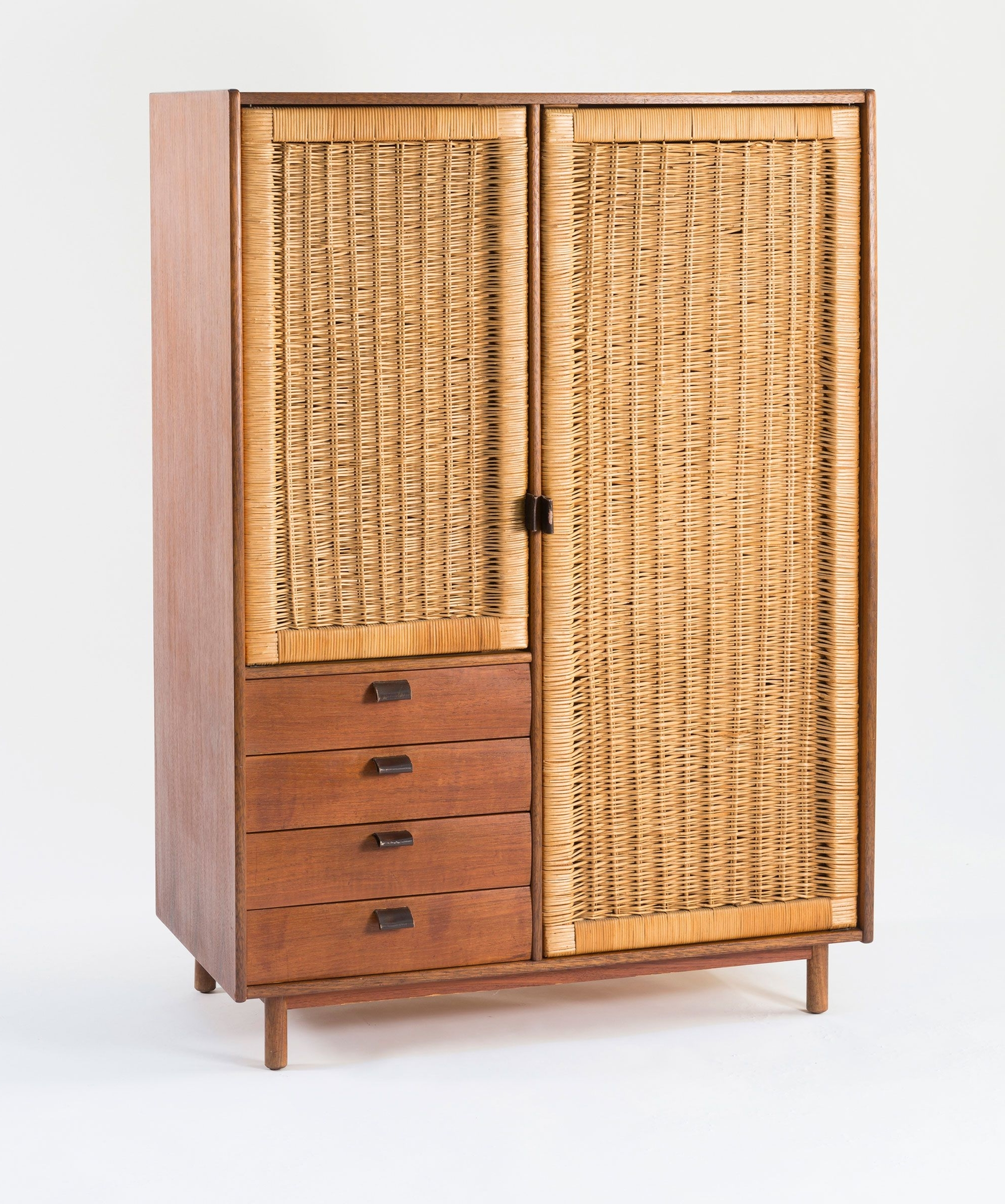 Cased Pertaining To White Rattan Wardrobes (View 7 of 15)