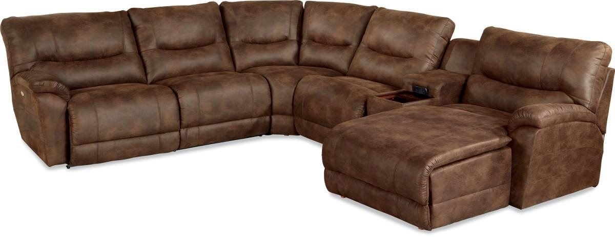 Casual Six Piece Reclining Sectional Sofa With Las Chaisela Z Intended For 2018 La Z Boy Sectional Sofas (View 2 of 10)