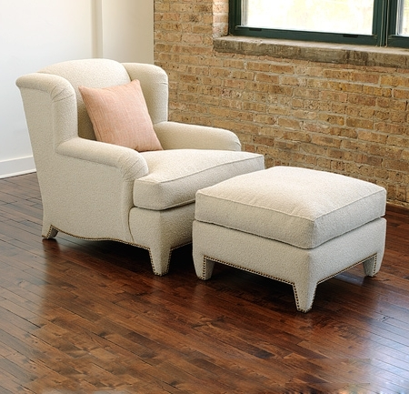 Chairs With Ottoman Intended For Trendy Colette Lounge Chair And Ottoman – Lounge Chairs, Ottomans (View 5 of 10)