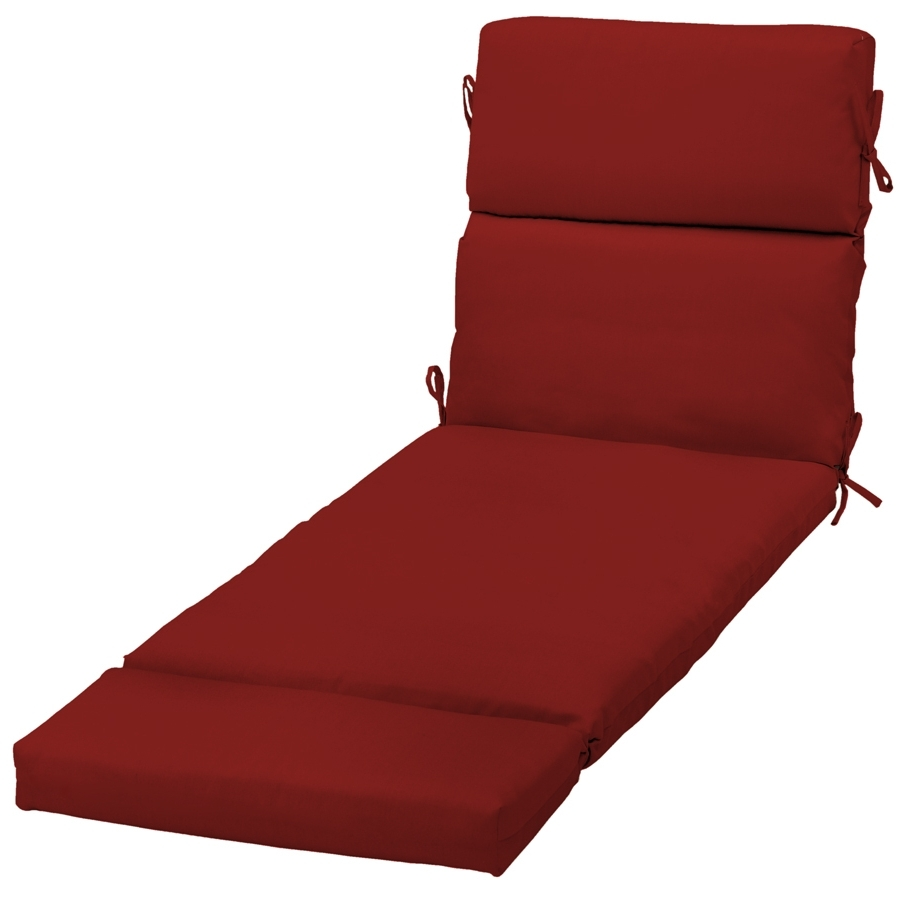 Chaise Cushions With Regard To Newest Shop Garden Treasures Red Red Solid Standard Patio Chair Cushion (View 8 of 15)