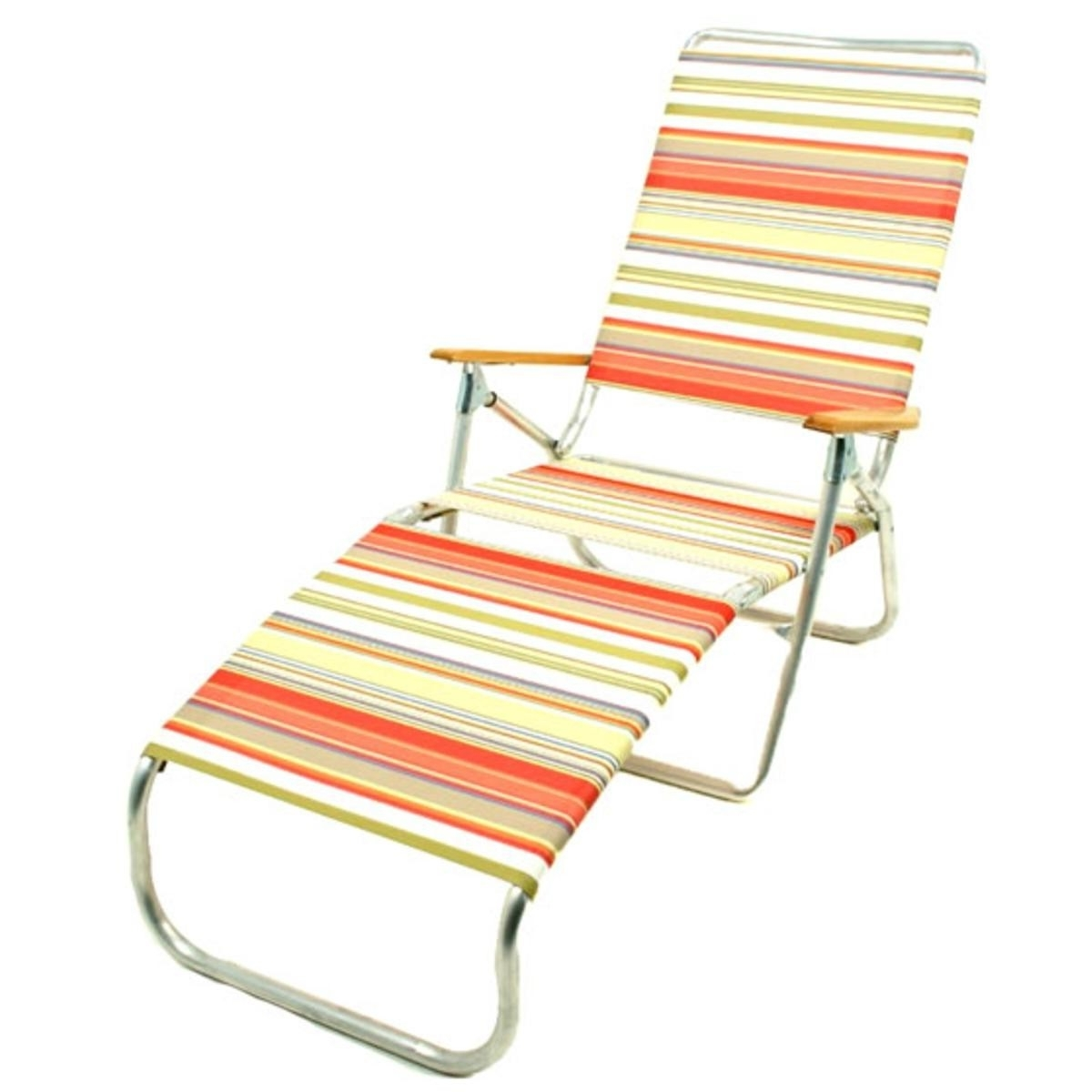 Chaise Lounge Beach Chairs Pertaining To Latest Telescope 821 Folding Chaise Lounge Beach Chair (View 2 of 15)