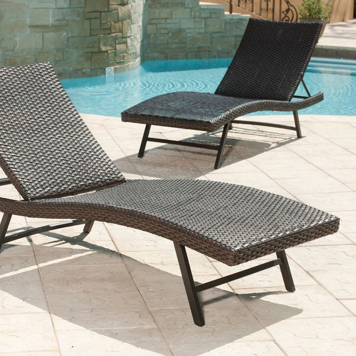 Chaise Lounge Chairs For Poolside With Preferred Lounge Chair : Furniture Outdoor Double Chaise Outdoor Pool Chaise (View 3 of 15)