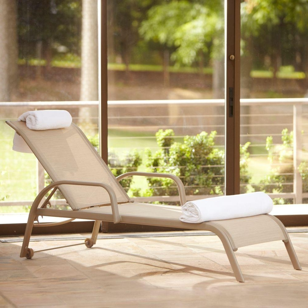 Chaise Lounge Chairs For Sunroom Pertaining To Widely Used Wheels – Patio Furniture – Outdoors – The Home Depot (View 5 of 15)