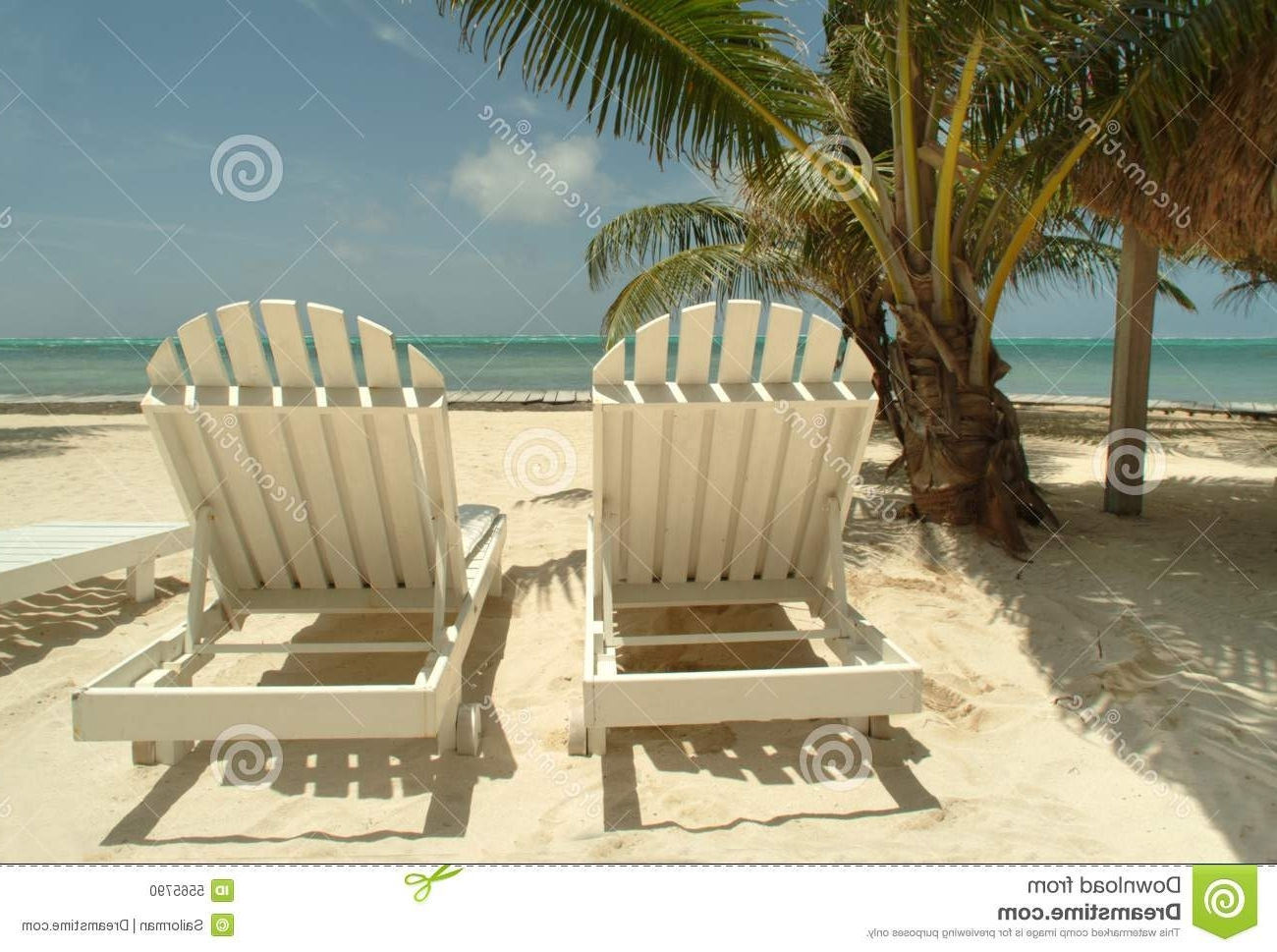 Chaise Lounge Chairs On A Tropical Beach (View 13 of 15)