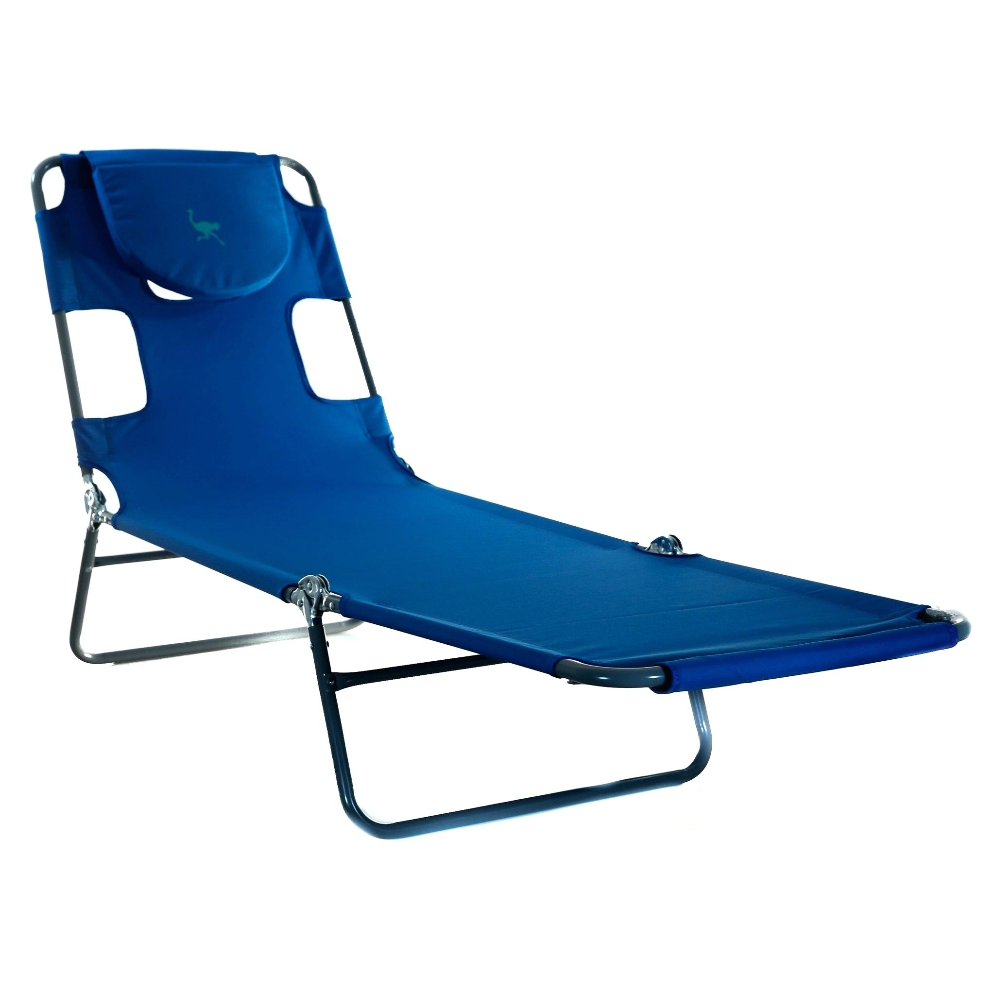 Chaise Lounge Chairs With Face Hole Inside Widely Used Folding Chaise – Kattenbroek (View 6 of 15)