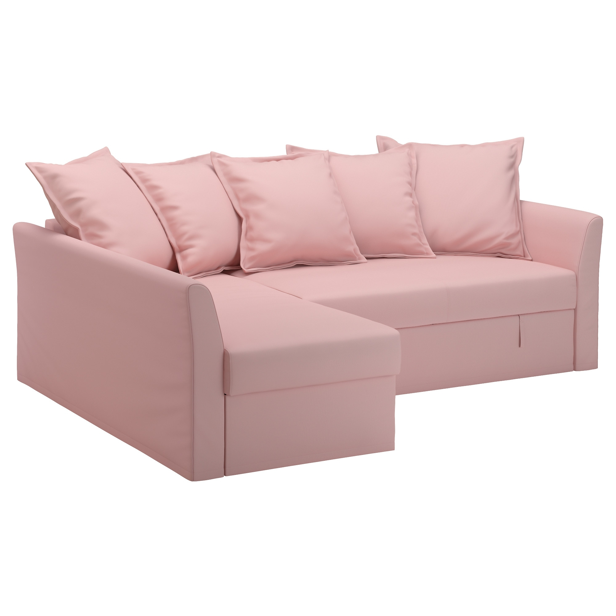 Chaise Lounge Sofa Beds Throughout Famous Ikea – Holmsund, Sofa Bed With Chaise, Ransta Light Pink, , Cover (View 2 of 15)