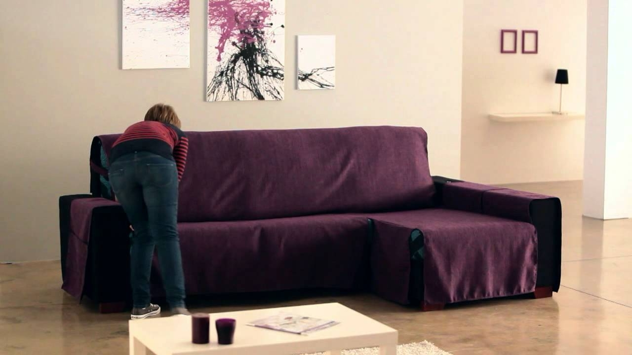 Chaise Lounge Sofa Covers Within Preferred How To Install A Chaise Longue Cover – Youtube (View 9 of 15)