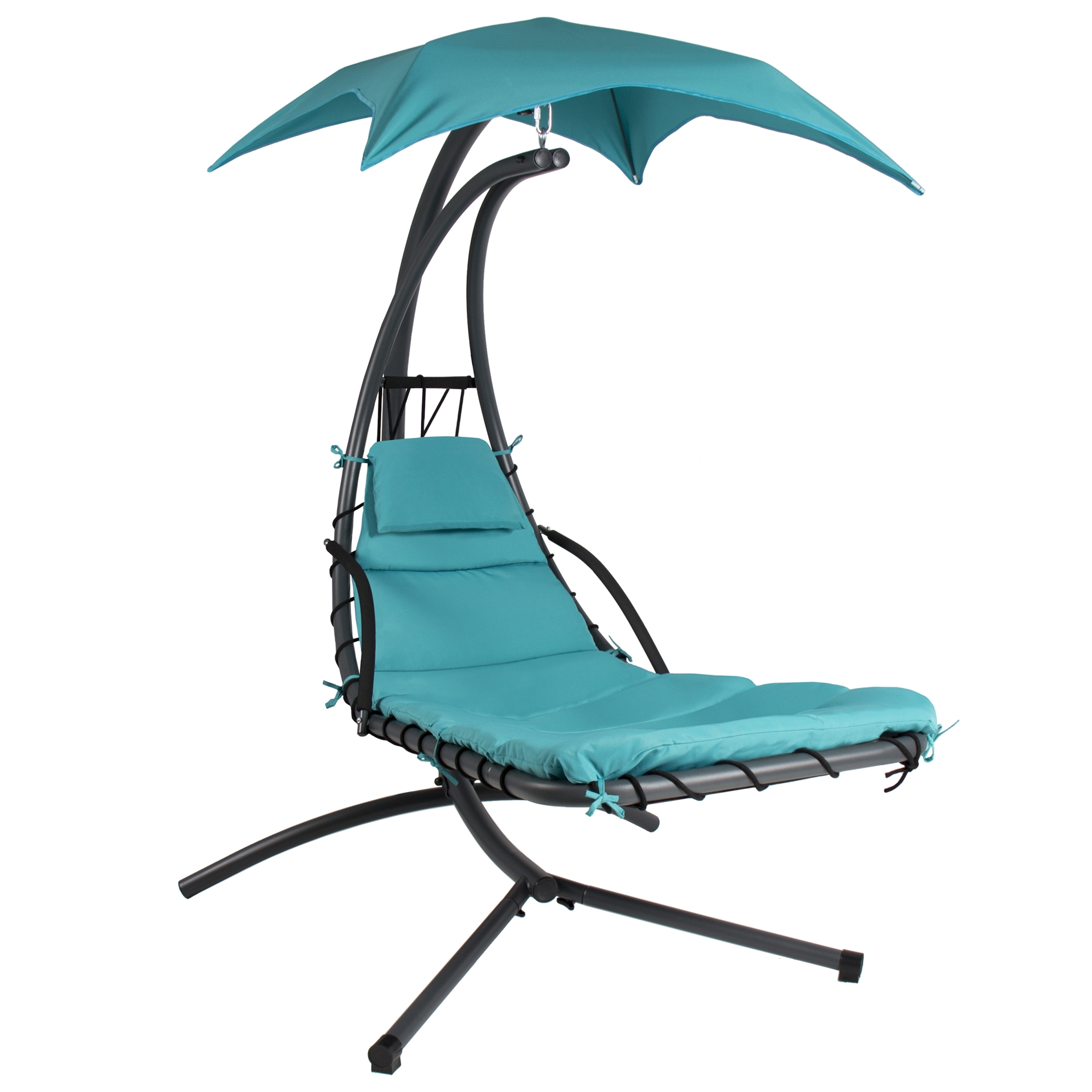 Chaise Lounge Swing Chairs Pertaining To Most Recently Released Hanging Chaise Lounger Chair Arc Stand Air Porch Swing Hammock (View 4 of 15)
