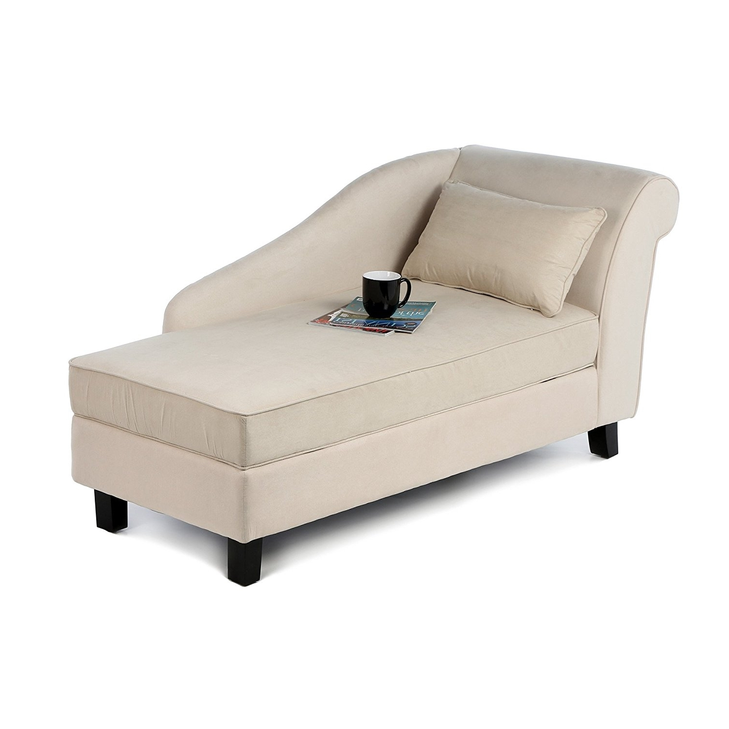 Chaise Lounges With Storage Regarding Fashionable Amazon: Castleton Home Storage Chaise Lounge Modern Long Chair (View 5 of 15)