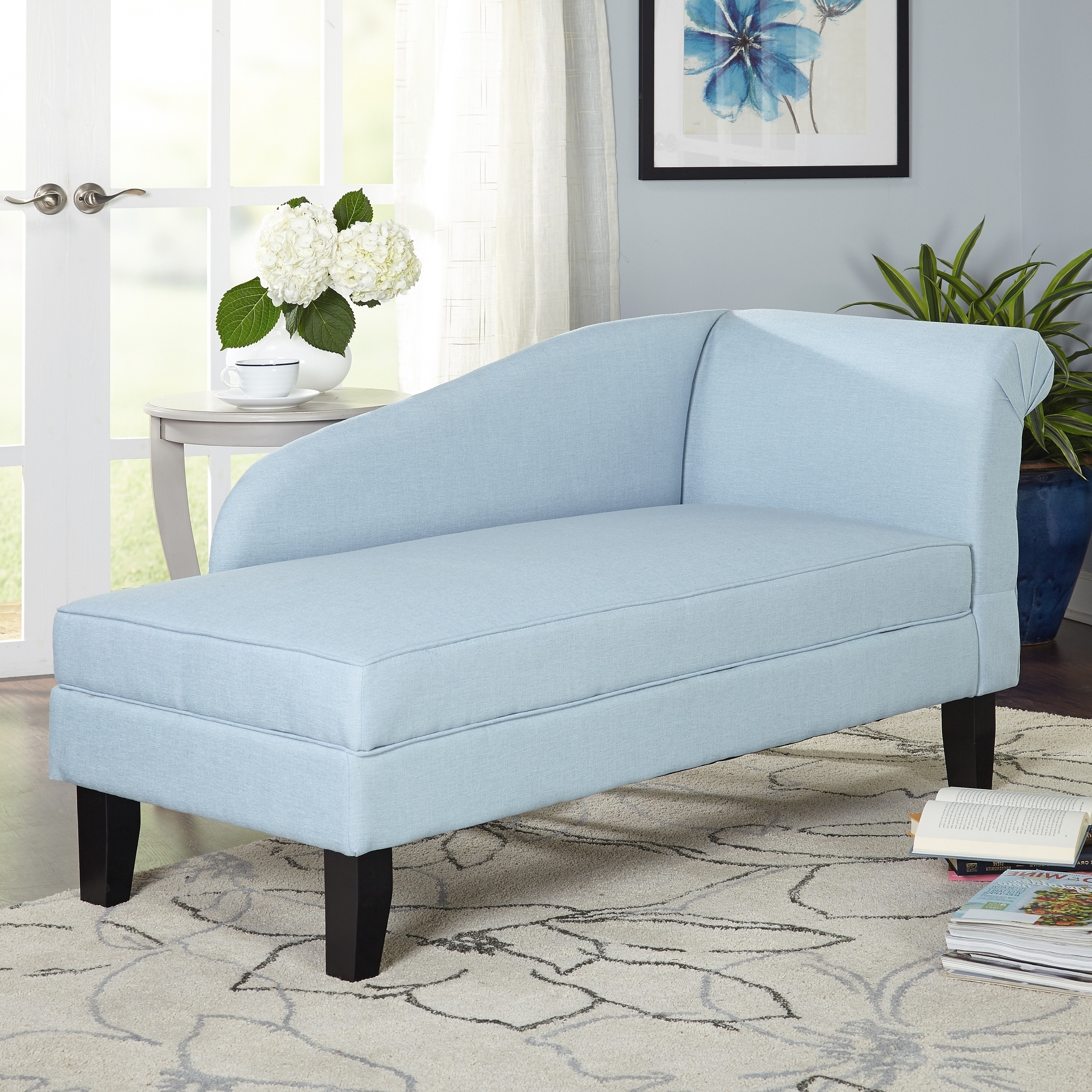 Chaise Lounges With Storage With Popular Simple Living Chaise Lounge With Storage Compartment – Free (View 6 of 15)