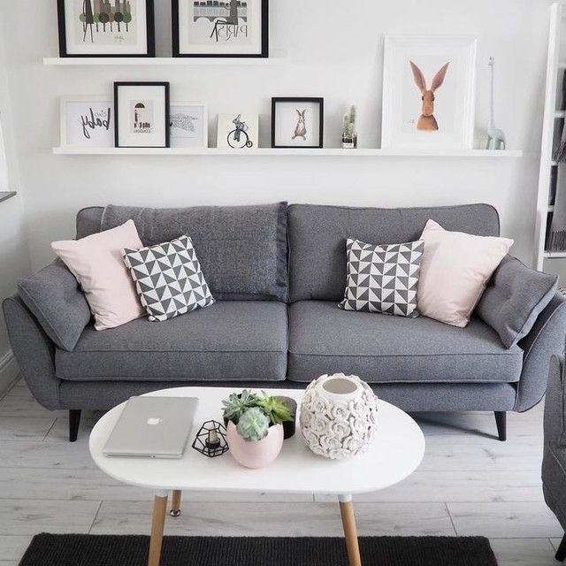 Charcoal Grey Couch Light Grey Sofa Decorating Ideas Living Room Throughout Fashionable Charcoal Grey Sofas (View 1 of 10)