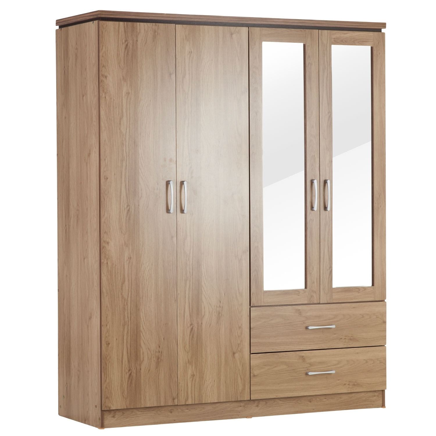 Charles 4 Door Wardrobe – Next Day Delivery Charles 4 Door Pertaining To Fashionable Cheap 4 Door Wardrobes (View 4 of 15)