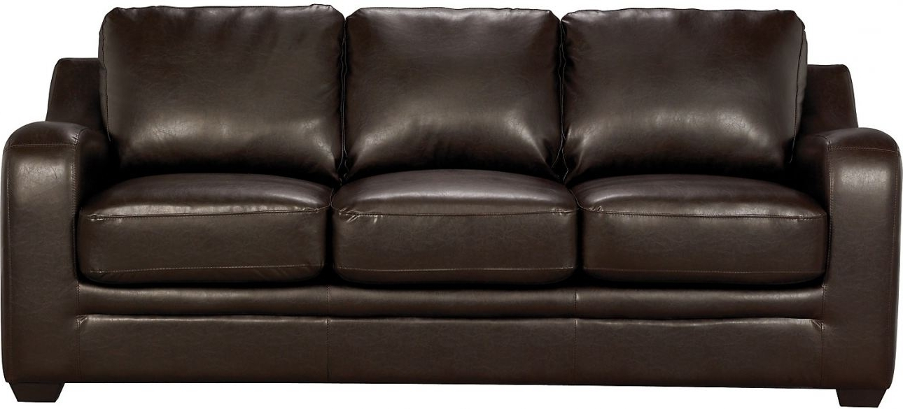Chase Brown Faux Leather Sofa The Brick (Good Brick Sofas Awesome Within Most Recently Released The Brick Leather Sofas (View 6 of 10)