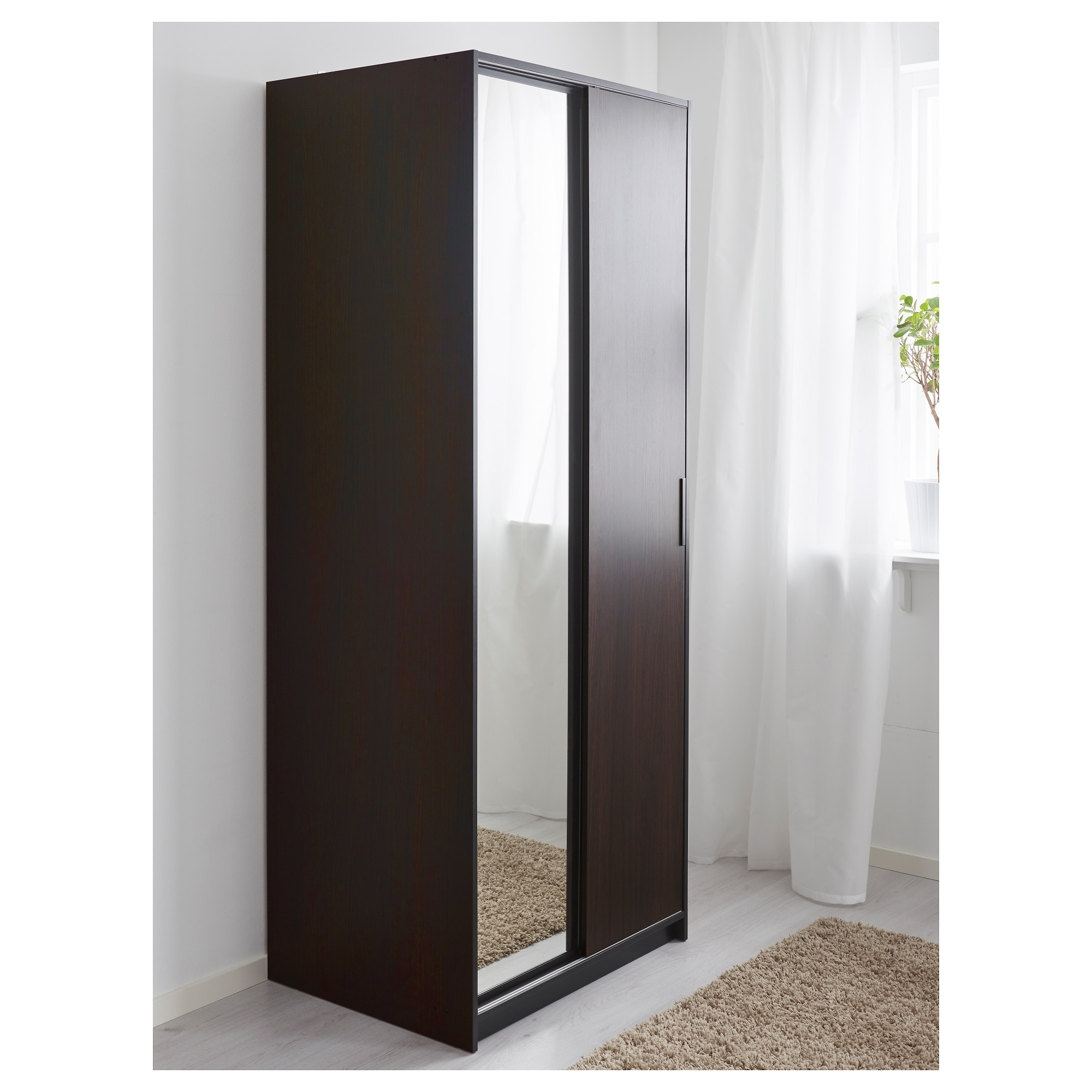Cheap 2 Door Wardrobes Regarding 2018 Trysil Wardrobe – Ikea (View 4 of 15)