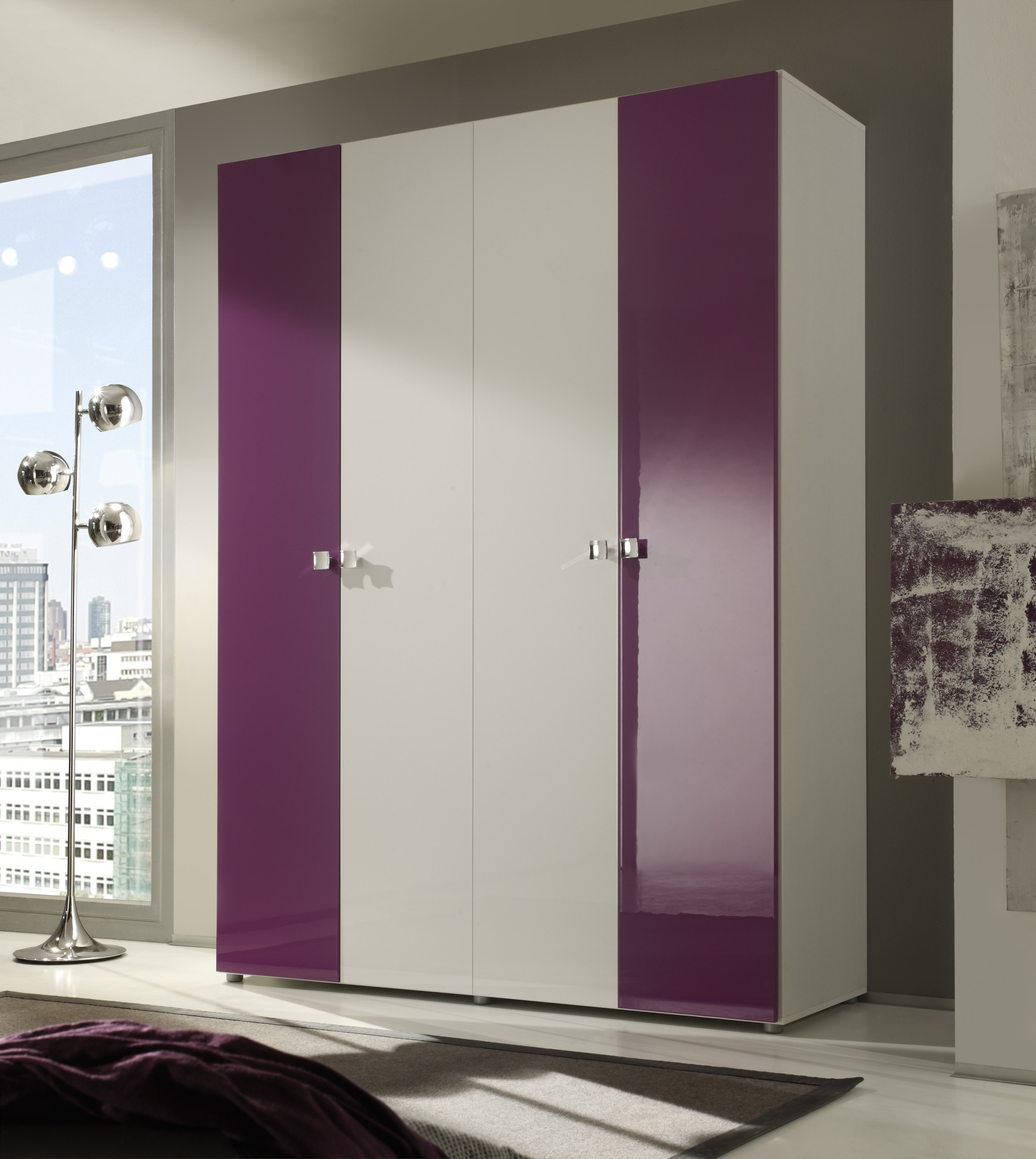 Cheap 4 Door Wardrobes Inside 2018 Smart 4 Door Wardrobe Buy Online At Best Price – Sohomod (View 5 of 15)