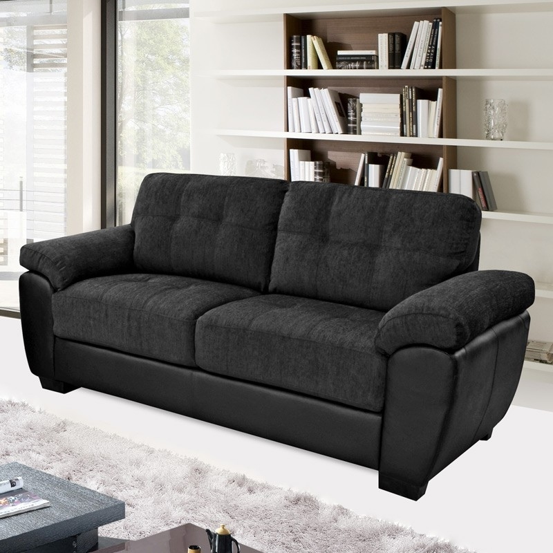 Cheap Black Sofas Within Well Known Sofa (View 3 of 10)