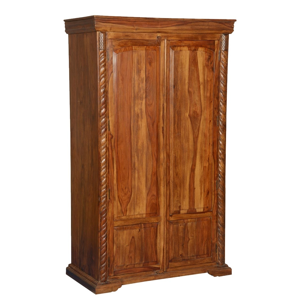 Cheap Solid Wood Wardrobes Regarding Most Popular Traditional Solid Wood Armoire Wardrobe Cabinet (View 15 of 15)