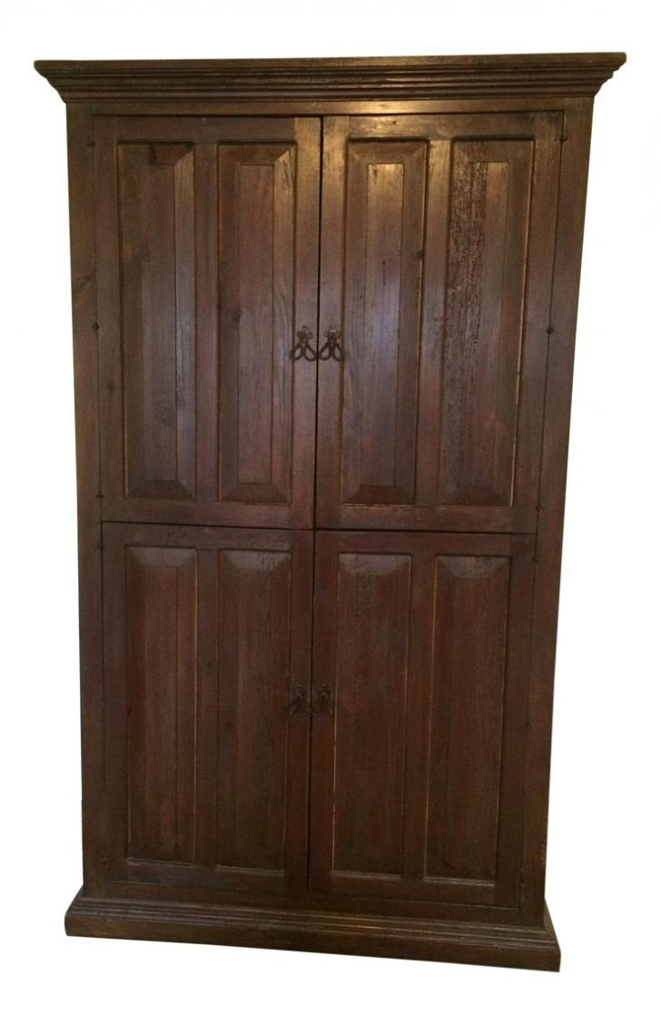 Cheap Wooden Wardrobes Pertaining To Latest Furniture : Solid Wood Wardrobe Closet Wardrobe Storage' Armoire (View 4 of 15)