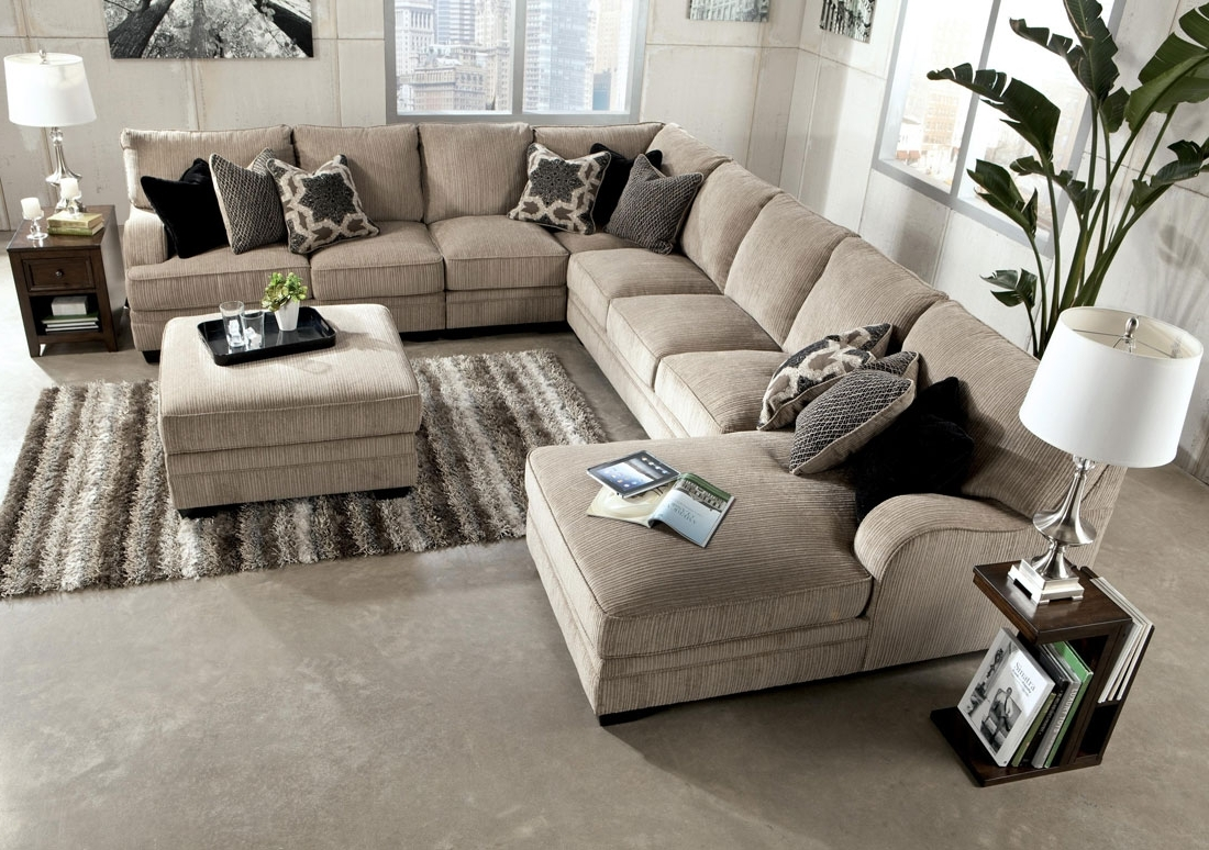Chenille Sectional Sofa With Chaise – Hotelsbacau Inside 2017 Oversized Sectionals With Chaise (View 6 of 15)