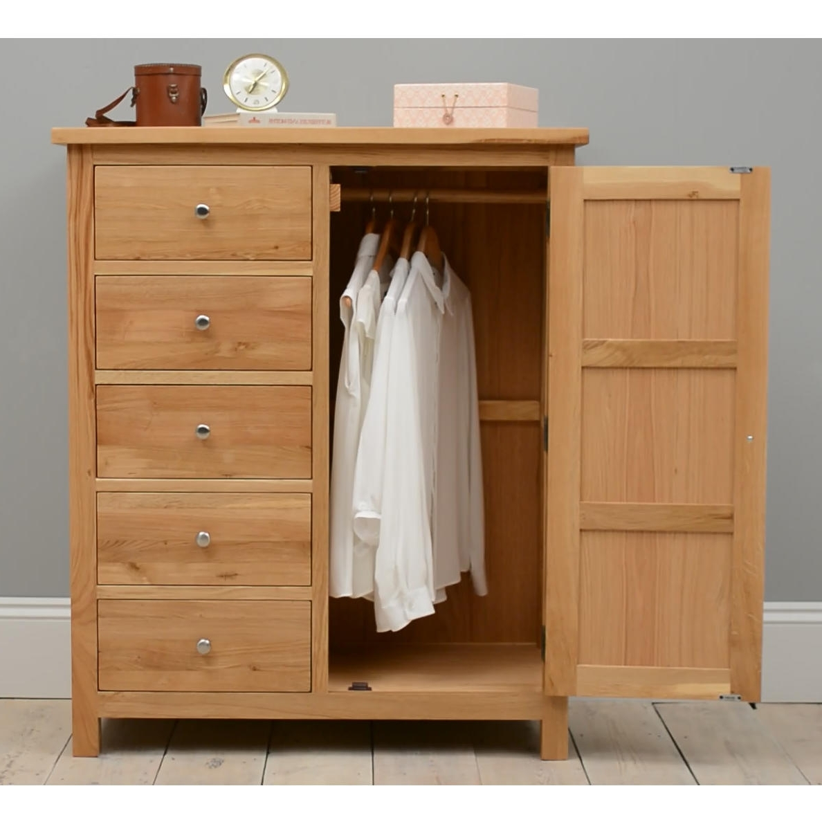 Chest Of Drawers Wardrobes Combination Throughout Popular Buy Oak, Pine, Painted & Modern Wardrobes At Furniture Octopus (View 5 of 15)