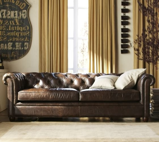 Chesterfield Leather Sofa (View 10 of 10)