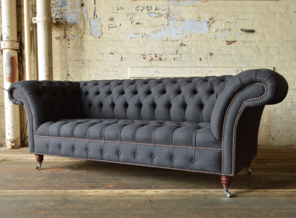 Chesterfield Sofas With Fashionable Nuvo Wool Chesterfield Sofa (View 3 of 10)