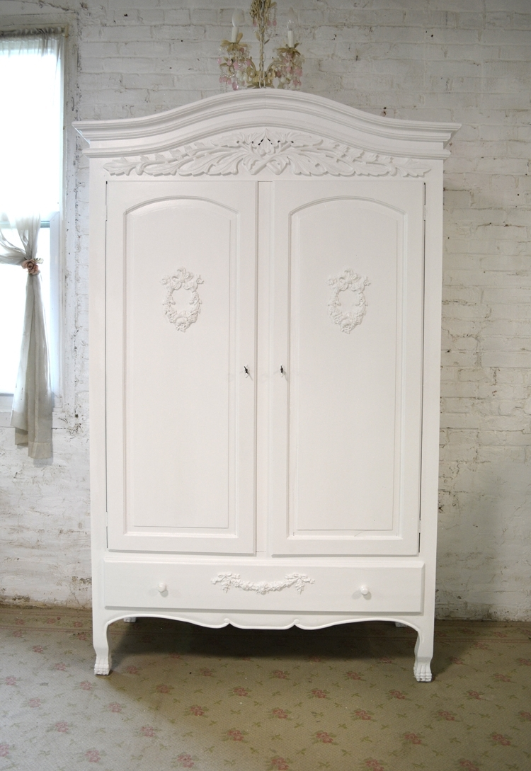 Chic Armoires Throughout Recent White Vintage Wardrobes (View 15 of 15)