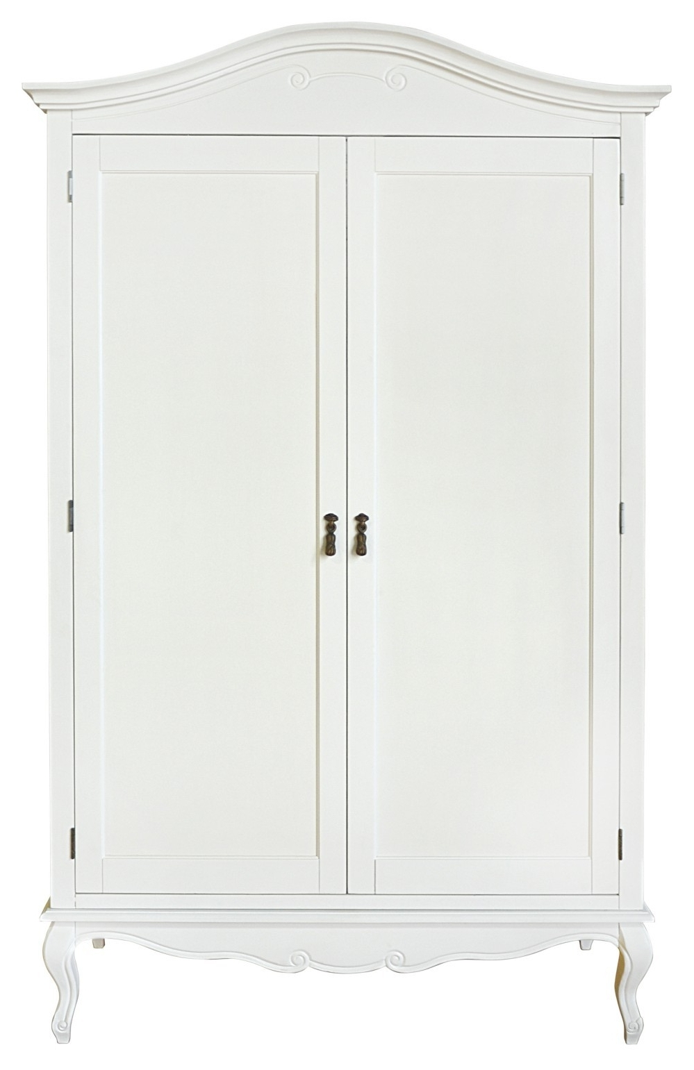 Chic Wardrobes Inside Well Known Shabby Chic White Double Wardrobe (View 3 of 15)
