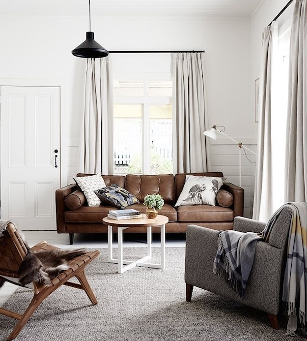 Chic Ways To Style A Brown Sofa In Your Living (View 7 of 10)