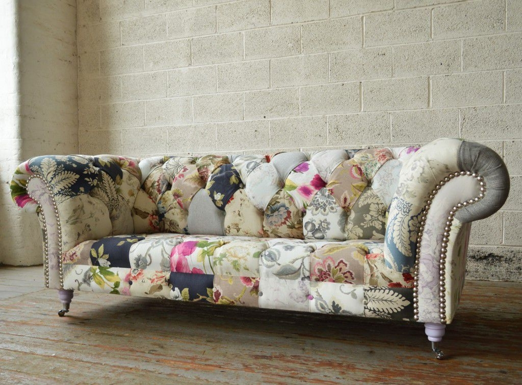 Chintz Fabric Sofas With Regard To Well Known Chesterfield Sofa / Fabric / 2 Seater / 3 Seater – Grace – Abode Sofas (View 6 of 10)