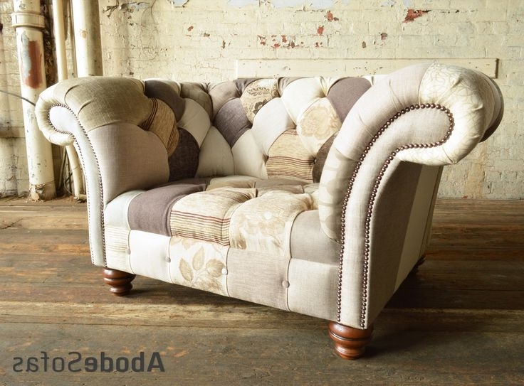 Chintz Sofas And Chairs With Regard To Current 7 Best Floral Chesterfield Sofas & Chairs Images On Pinterest (View 6 of 10)