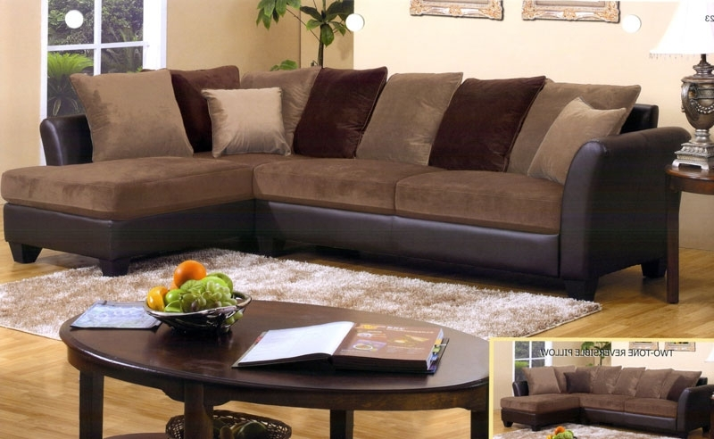 Chocolate Brown Sectional Sofas With Best And Newest Sofa Beds Design: Extraordinary Modern Chocolate Brown Sectional (View 4 of 10)