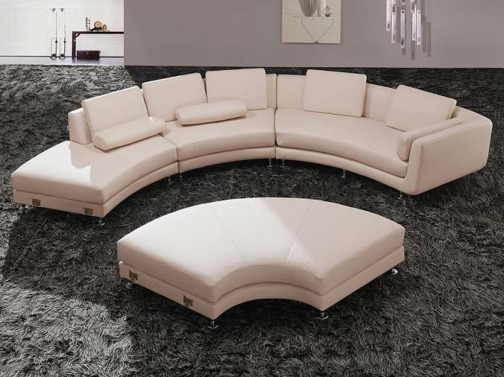 Circular Sectional Sofa Modern Fresh Rounded Buildsimplehome Pertaining To Most Recent Rounded Sofas (View 1 of 10)