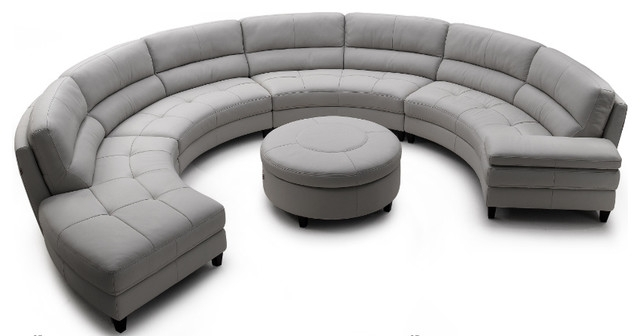 Circular Sectional Sofas Throughout Current Sectional Sofa Design: Elegant Semi Circular Sectional Sofa Milo (View 1 of 10)